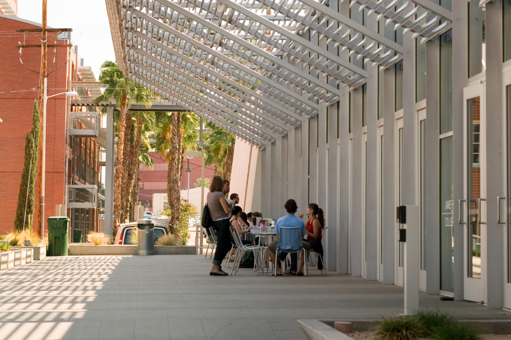 University of Arizona James E. Rogers College of Law courtyard