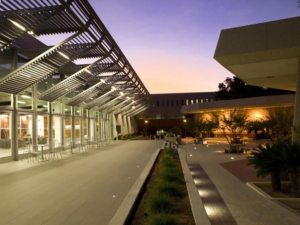 Arizona Law exterior at dusk