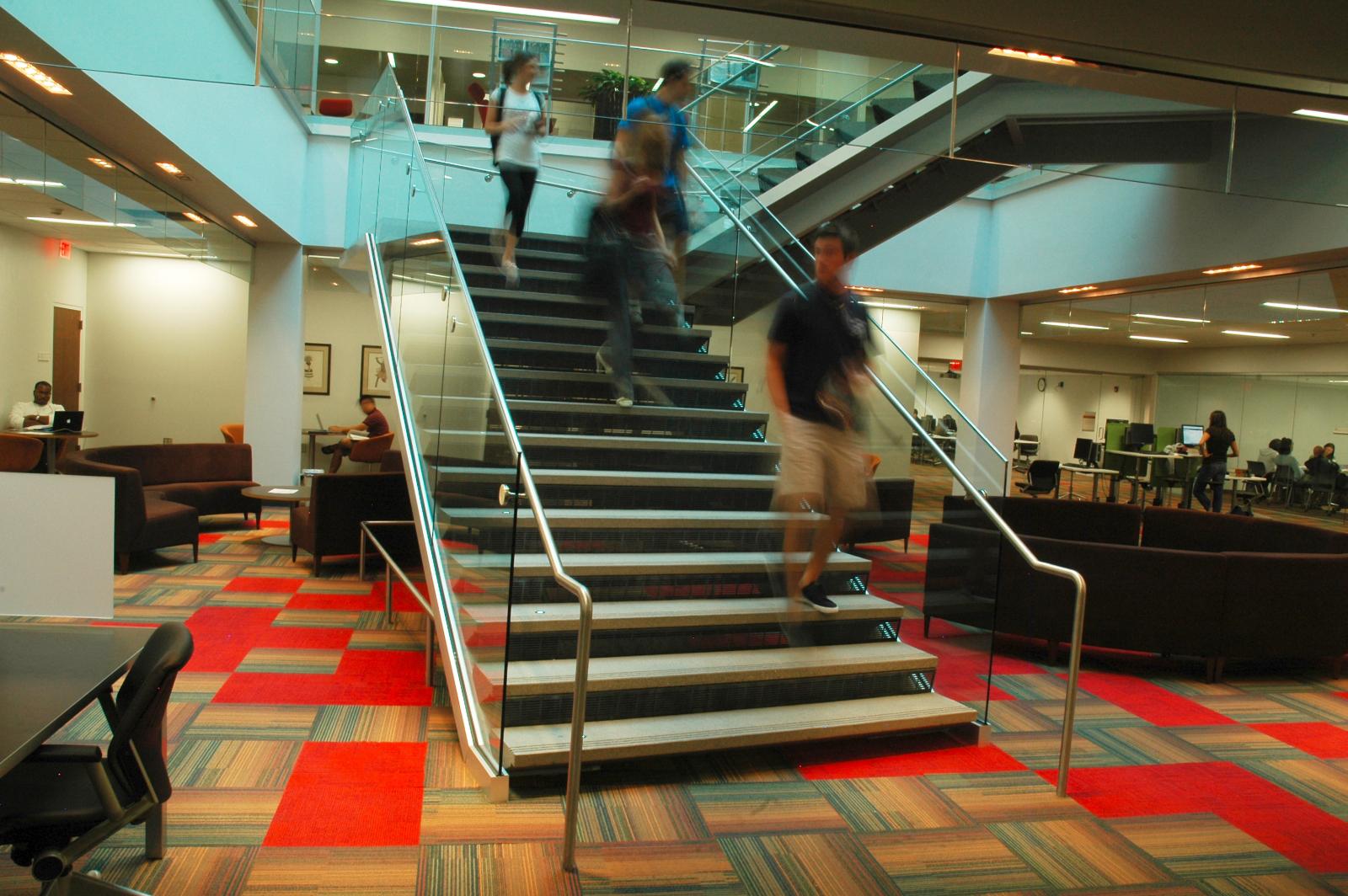 University of Arizona Law Library staircase
