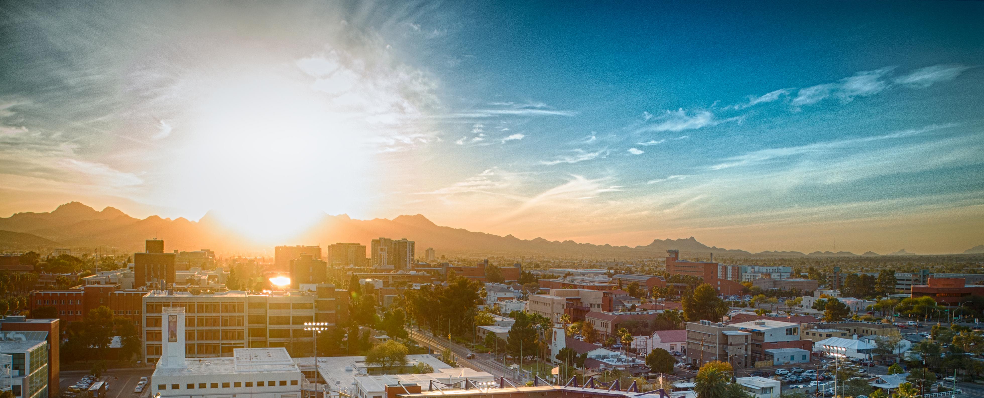 University of Arizona at sunset