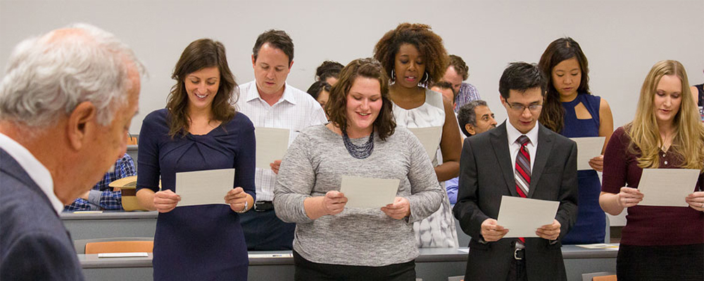 University of Arizona Law students take the oath after passing the bar exam