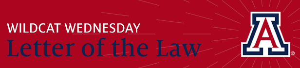 Wildcat Wednesday Letter of the Law newsletter logo