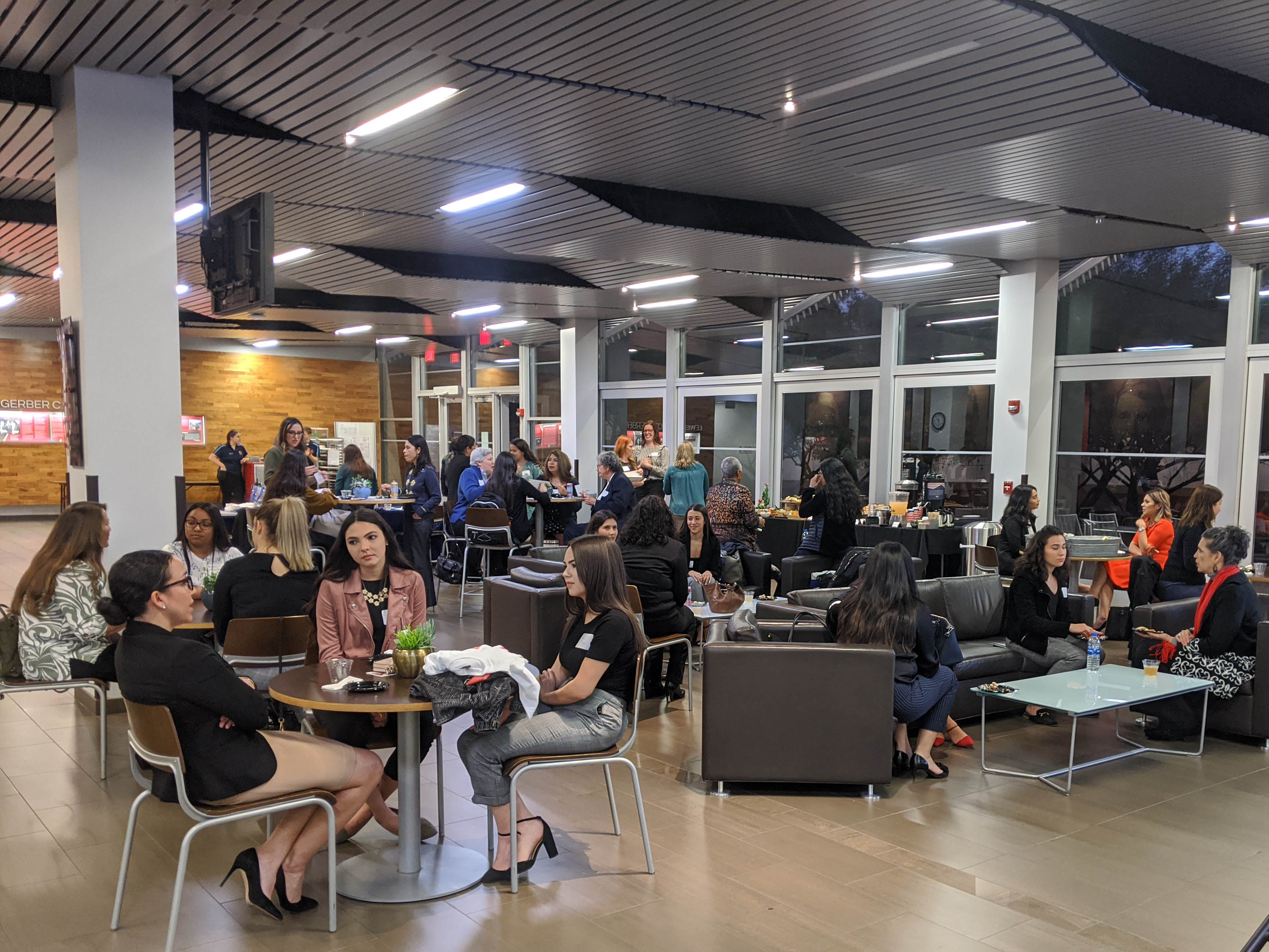 A Lawtina Mentoring Program networking gathering in early 2020.