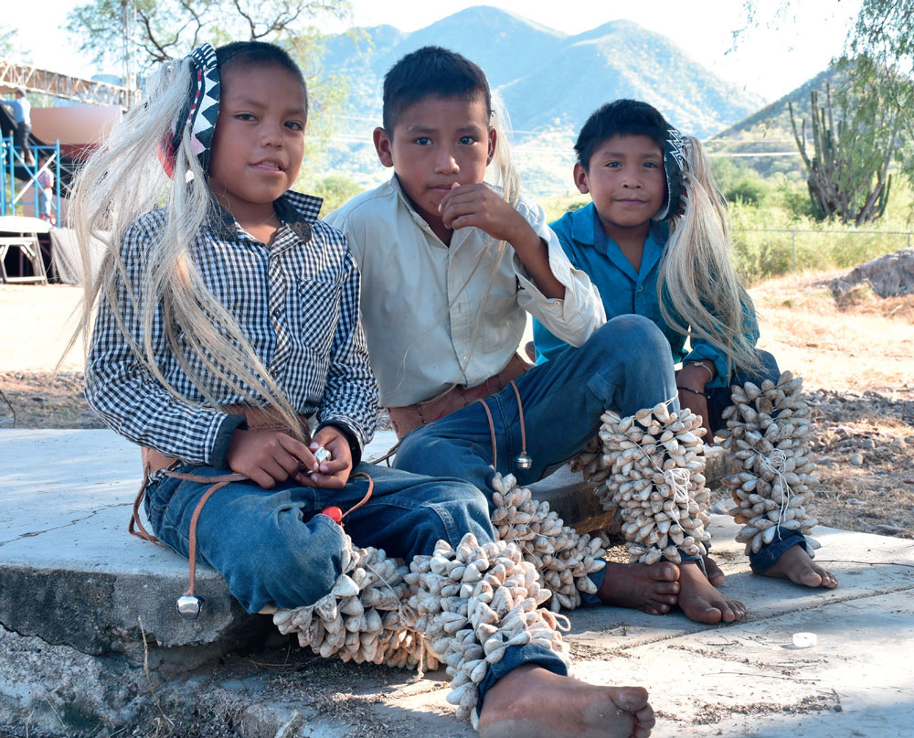 Three young indigenous boys