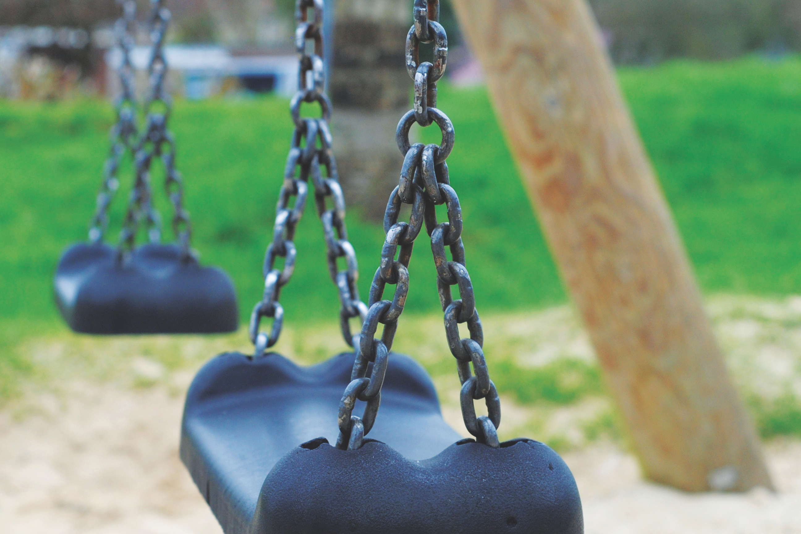 Empty swings at park