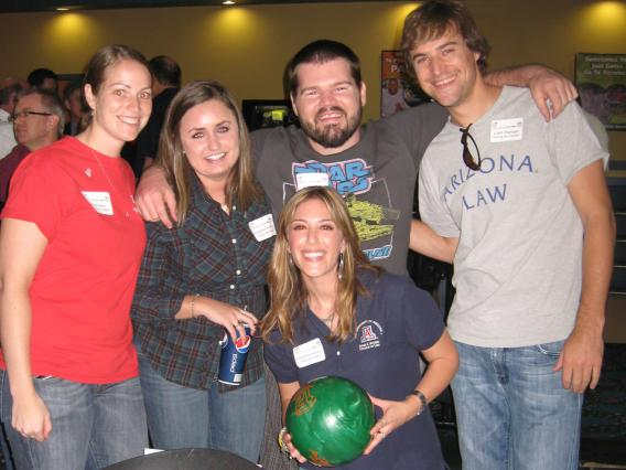 Five people at Gutter Bowl