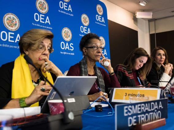 Participants at an Inter-American Commission on Human Rights (IACHR) panel. Image credit: IACHR.