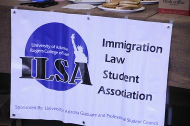 Banner promoting the University of Arizona Immigration Law Student Association