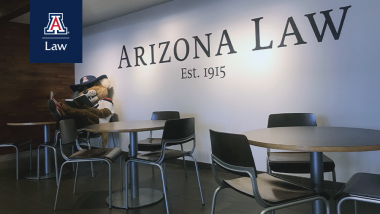 Wilber Studying in Arizona Law Lobby