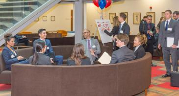 Arizona Law students wait to interview with employers during the Sonoran Desert Public Sector Career Fair, held on campus each February.