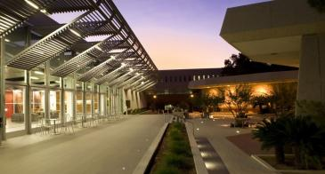 University of Arizona Law Courtyard at dusk