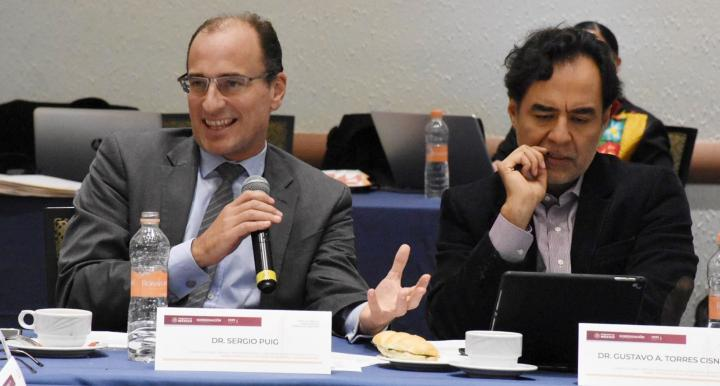 Professor Sergio Puig sitting on a committee to draft the Mexican Constitutional Reform on Indigenous Peoples Rights