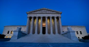 Exterior view of the United States Supreme Court