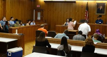 Tucson teens participate in a mock trial, <em>Regina v. Harry Potter</em>, with members of the Arizona Law Review as part of the kickoff for ALR Gives Back.