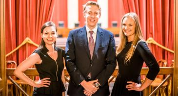 University of Arizona Law student Zoey Kotzambasis, far left, attended the Federalist Society's national Supreme Court conference in July, where she networked and prepared for her tenure as president of the UA chapter. <em>Image courtesy of The Federalist Society</em>.